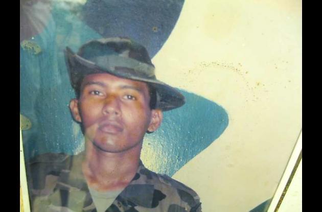 Richard Pitalua Segura, cuando prestó el servicio militar
