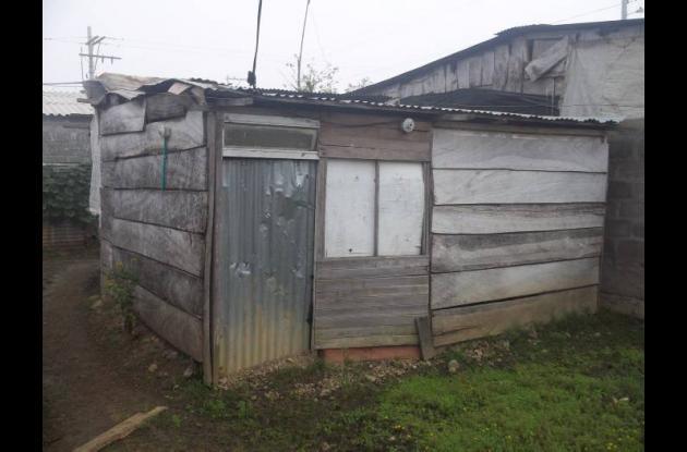 En esta casa que del sector de los Comuneros vive la persona afectada