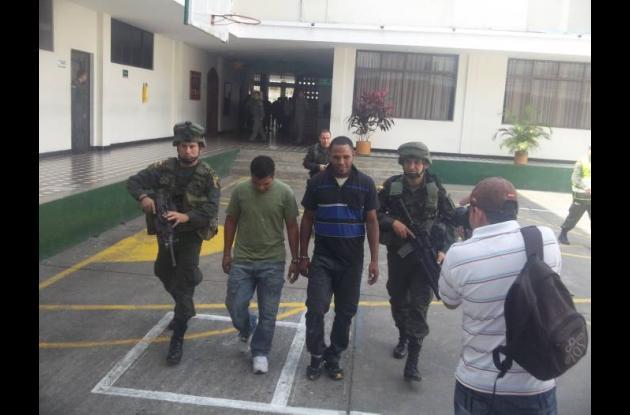 Gabriel Castro y José Manuel Ruiz, presuntos homicidas de Hernán Manchego.
