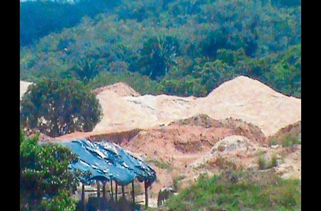 En esta zona del departamento se venían realizando la explotación minera