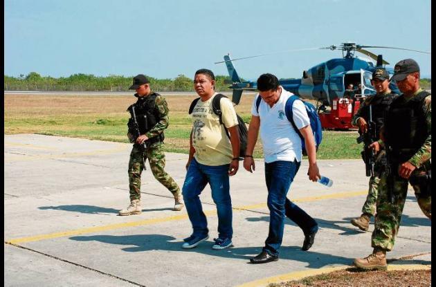José Jaramillo, (der.) cordobés capturado, miembro de una banda de narcotráfico
