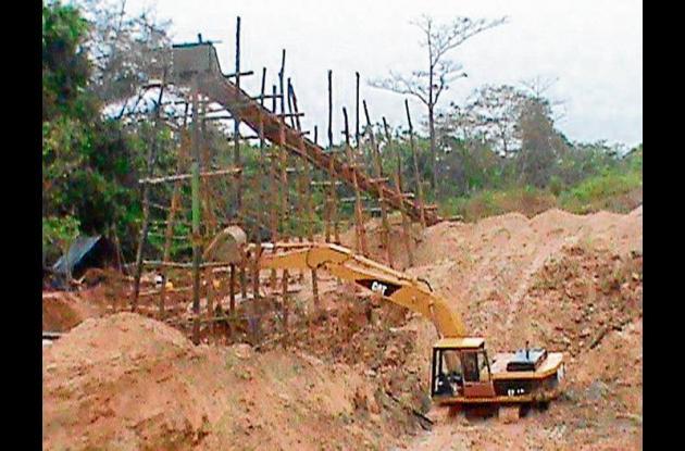 minería ilegal en Puerto Libertador.