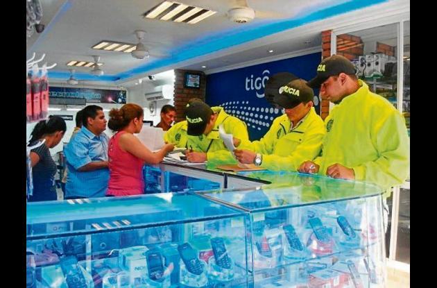 operativos en la zona comercial de la ciudad de Montería.