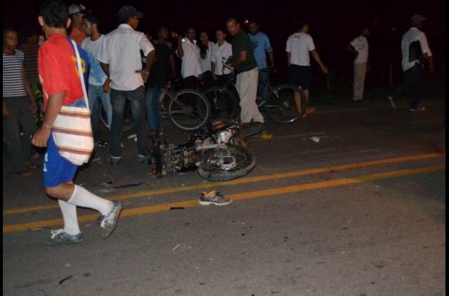 El accidente se registró el sábado en la troncal de occi-dente del municipio de