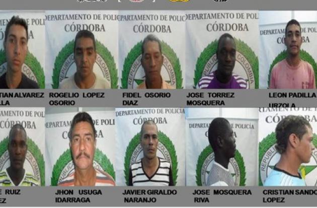 Grupo de capturados en Puerto Libertador.