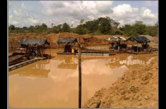 La minería ilegal se sigue ejerciendo en Córdoba.