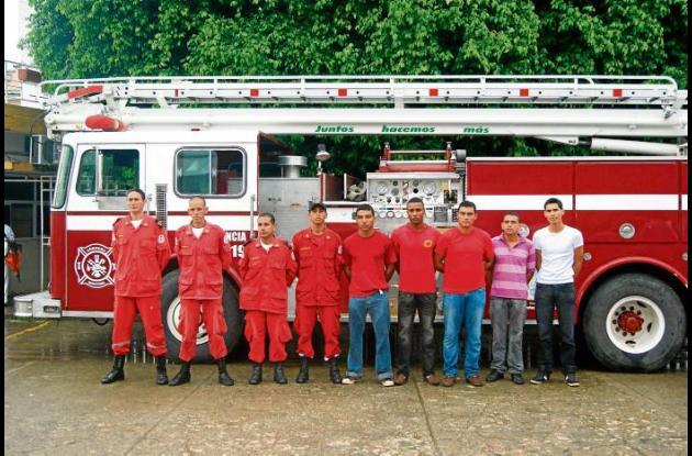 La nueva maquina de bomberos en Cereté.