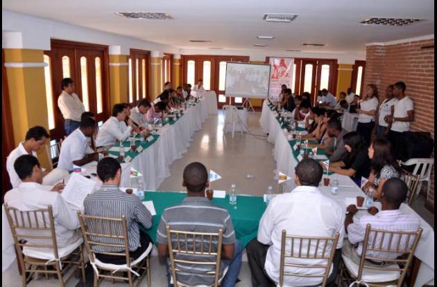Jóvenes de todas las localidades y universidades de Cartagena se reunieron ayer