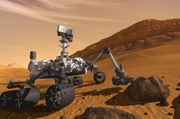 Imagen artística del robot estadounidense Curiosity.