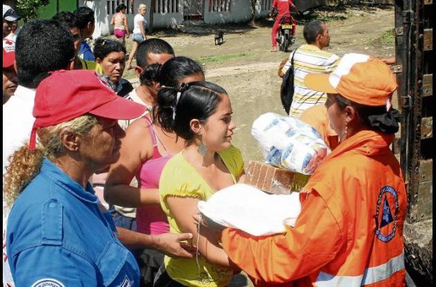 La Administración hizo la entrega de ayuda humanitaria a los damnificados