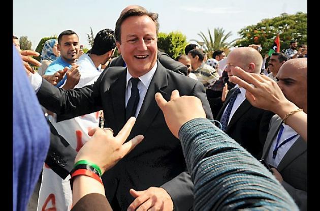 David Cameron en Libia.