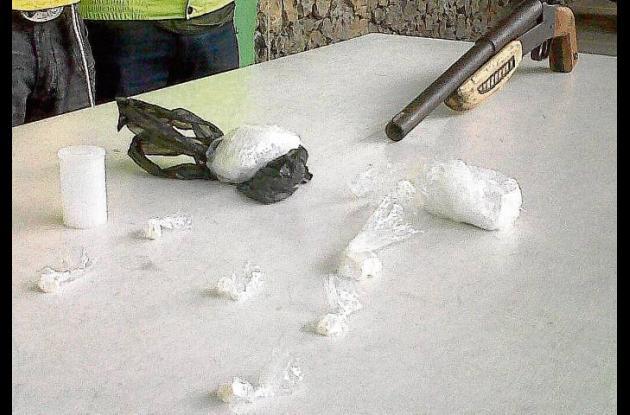 droga decomisada en allanamiento en Sampués