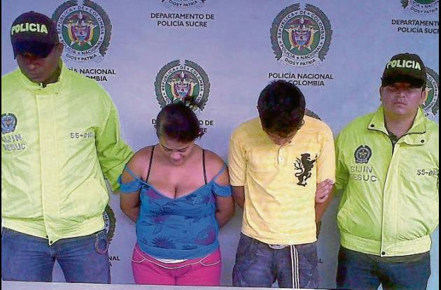 personas capturadas en allanamiento en Sampués