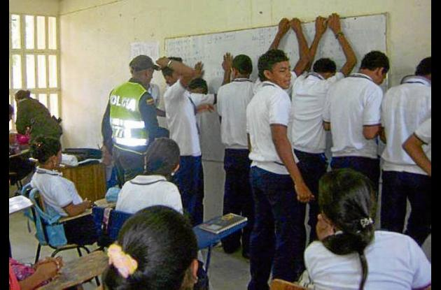 Estudiantes de la Institución Educativa Mariscal Sucre.