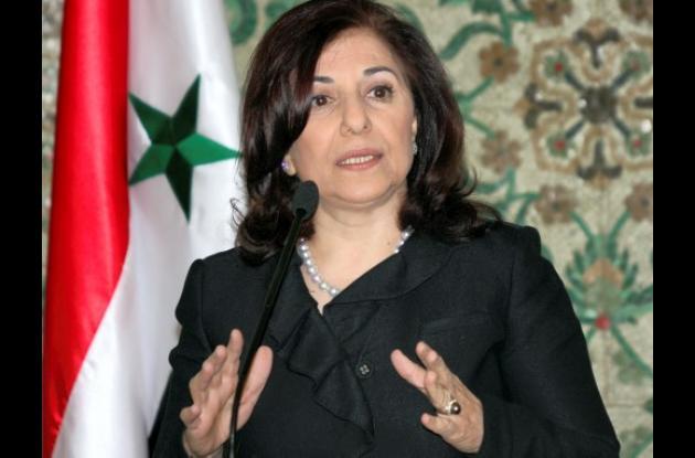 Busaina Shaaban, consejera del presidente Al Asad.