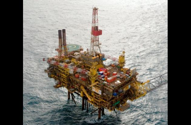 Derrame de petróleo en el mar del Norte.