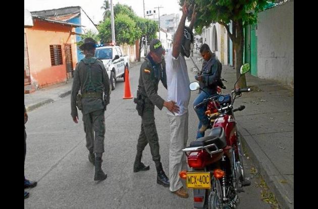Operativos de seguridad en el municipio de Cereté.