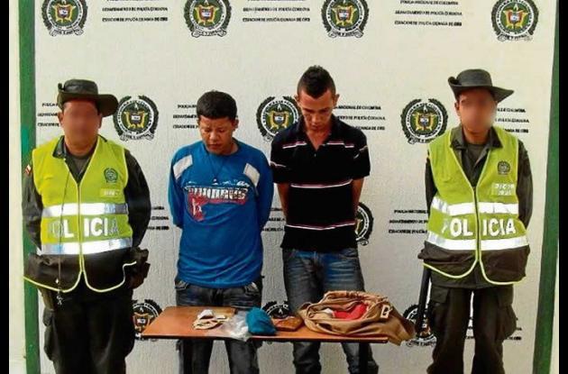 Carlos Madera y Rafael Argumedo, capturados en Cereté