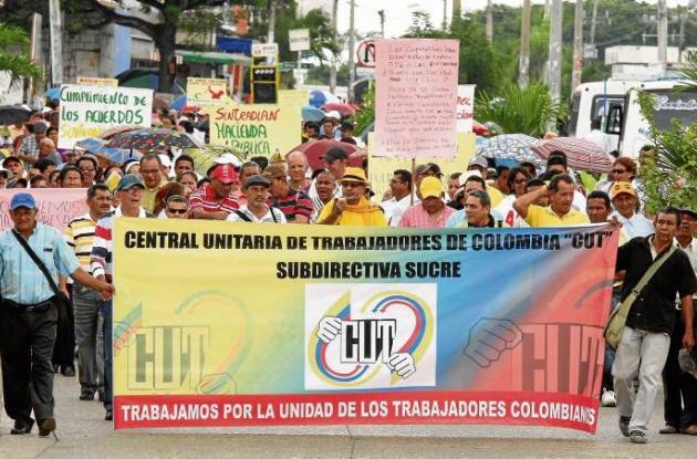 Marcha para conmemorar el Día Internacional del Trabajo.