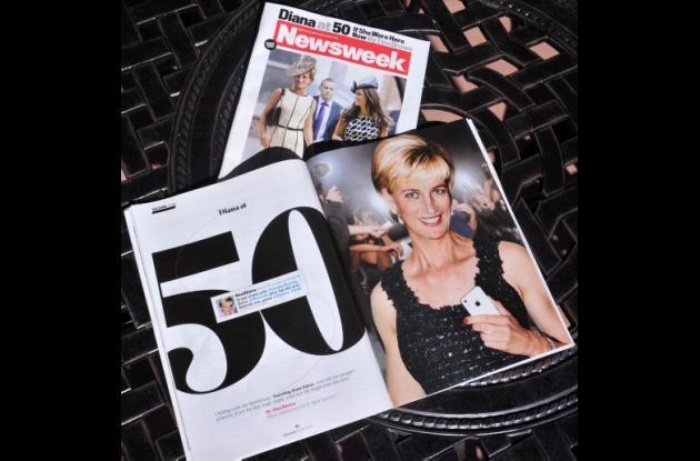 Así sería la princesa Diana a los 50 según Newsweek.