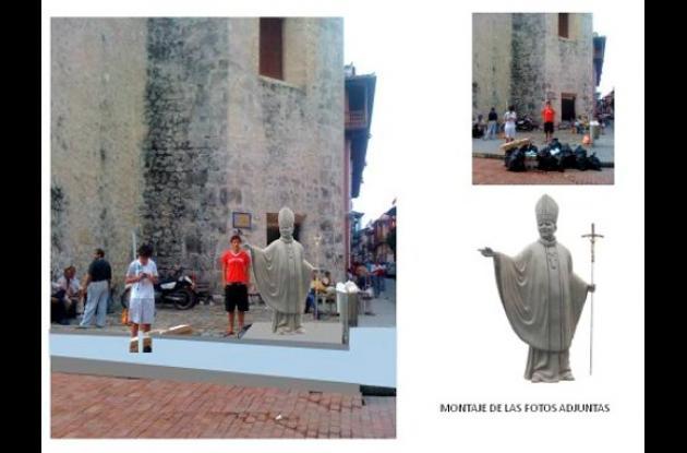 Instalarán escultura de bronce de Juan Pablo II en Cartagena de Indias.