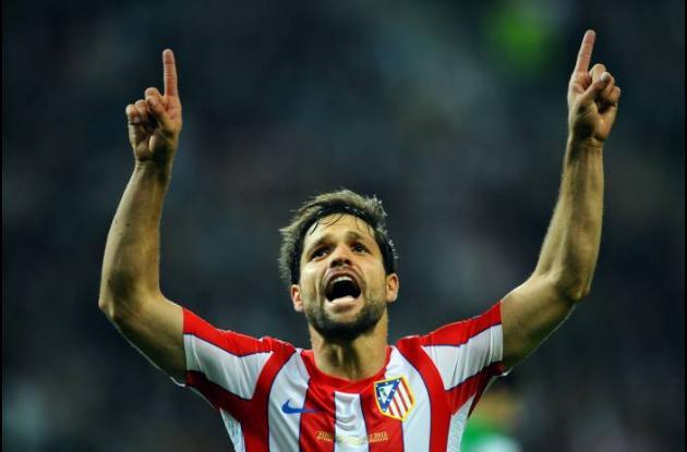 Diego marcó el tercero para el Atlético de Madrid.
