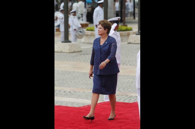 Dilma Rousseff, presidanta de Brasil