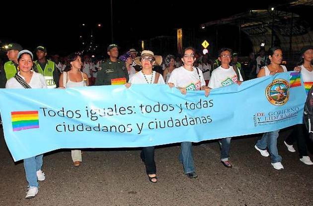 Marcha de la diversidad sexual de 2010 en Cartagena.