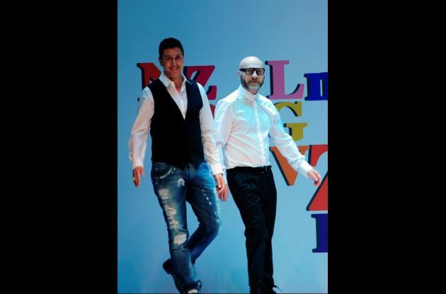 Los diseñadores Stefano Gabbana, izquierda, y Domenico Dolce.
