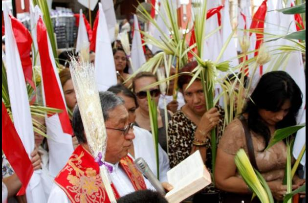 La Iglesia celebró ayer el Domingo de Ramos, inicio de la Semana Santa.