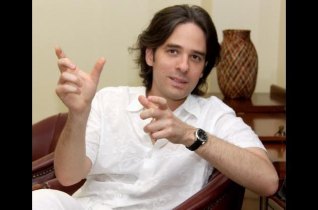 El joven cineasta cartagenero Juan Pablo Bustamante.