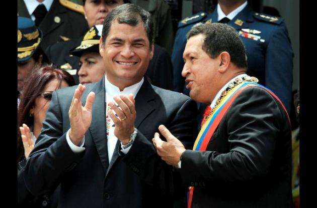 Rafael Correa, Hugo Chávez