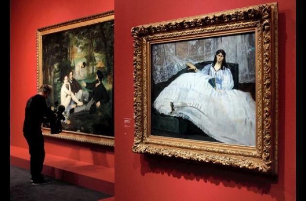Exposición del francés Edouard Manet en el Museo de Orsay.