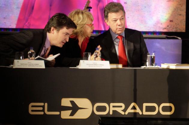 El Presidente de la República Juan Manuel Santos inauguró la terminal de vuelos nacionales del aeropuerto internacional Eldorado de Bogotá.