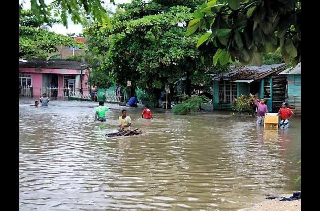 El barrio El Pozón ha sido uno de los más afectados con las lluvias que caen sob