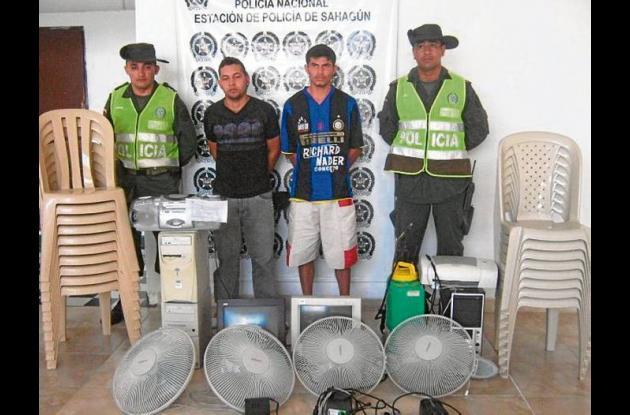 Manuel Vega Macea y Óscar Salcedo Vega, capturados con elementos robados