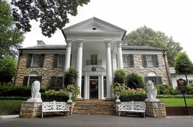 La casa de Elvis Presley's en Memphis.