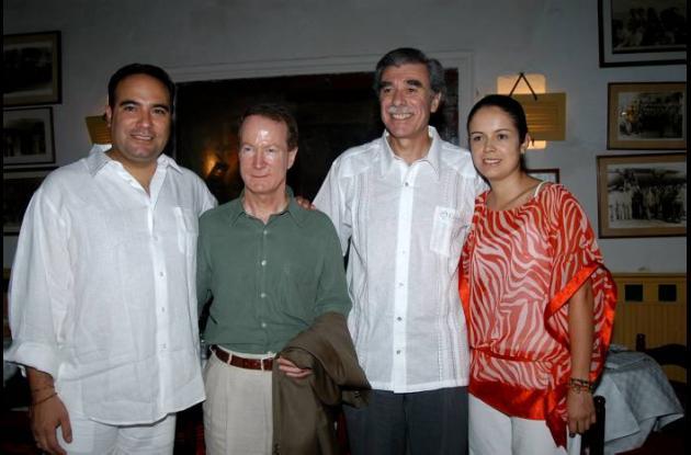 Imagen captada en el año 2007 con William Brownfiell.