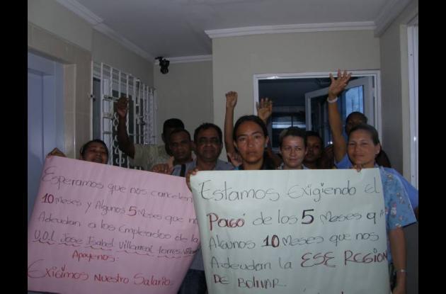 Trabajadores de la ESE reclaman el pago de sus salarios.