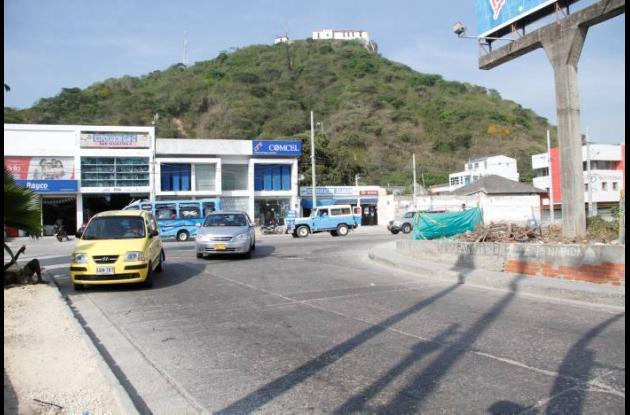 Cierre vial por obras de Transcaribe en Bazurto