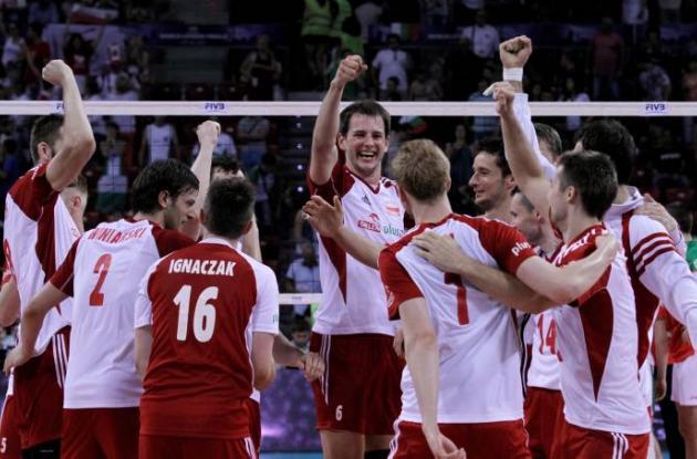 Equipo de voleibol de Polonia.