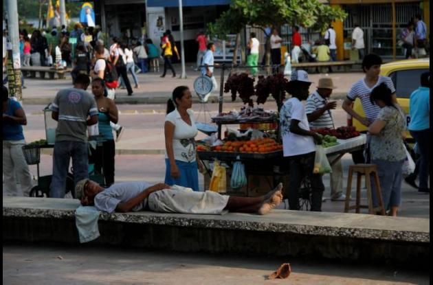 Invasión de espacio público en Cartagena