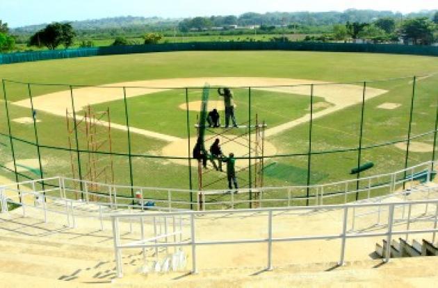El estadio de béisbol Rafael Naar de Turbaco.