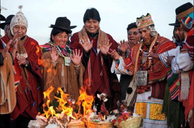 Evo Morales celebra hoy el Año Aymara, el que declaró feriado el año pasado.