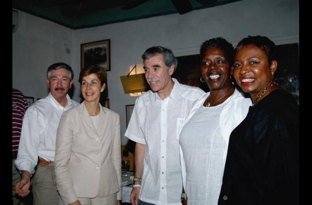 La embajadora de Colombia en 2007, Carolina Barco.