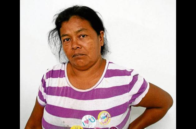 Estela del Carmen Villadiego, capturada.