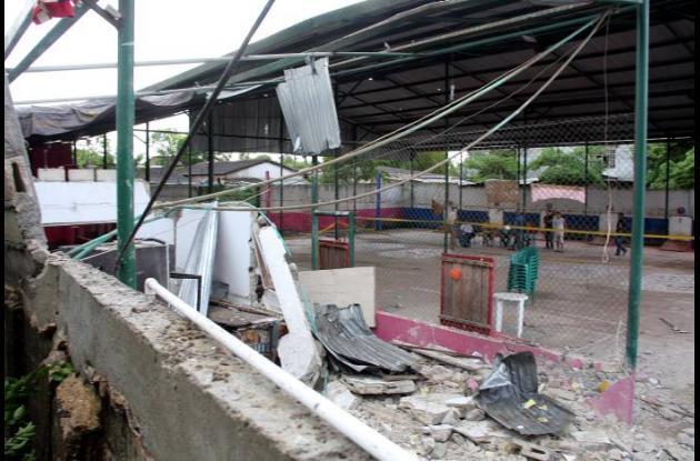 Así quedó el establecimiento donde se produjo la explosión.