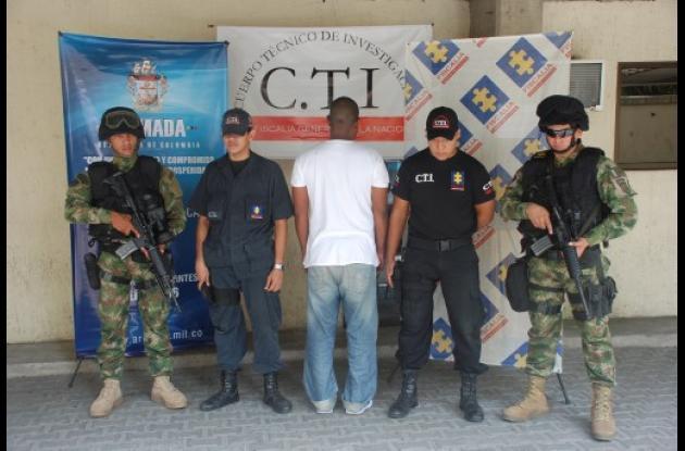 El extraditable fue capturado en un barrio de Cartagena.