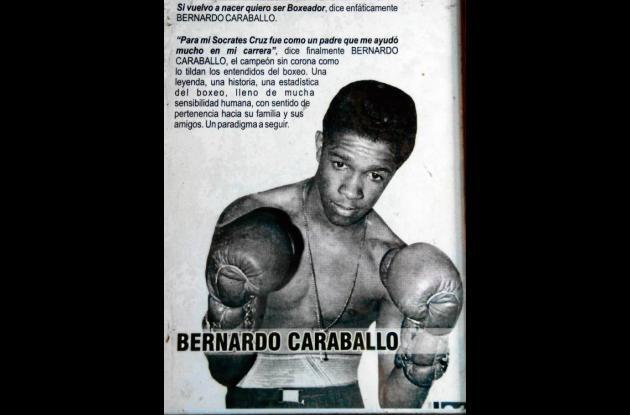 Recuerdos de la mejor época del boxeador Bernardo Caraballo.