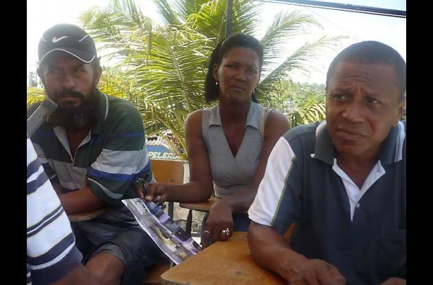 Albeiro Rico Cardona, Teresa Pájaro y Emiro Pupo López.